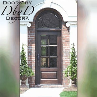 A simple yet elegant country french door and transom.