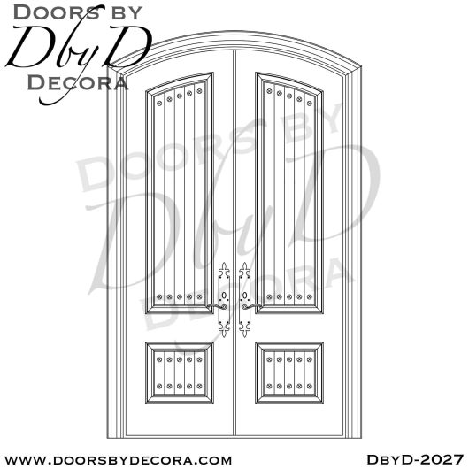 french country v-groove doors