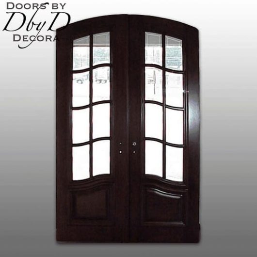 A traditional pair of country french doors.