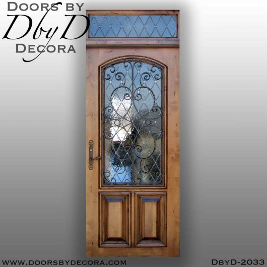 french country iron door