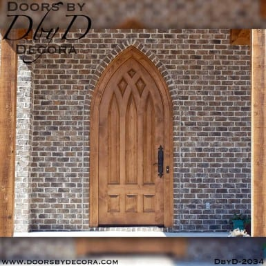 french country cathedral top door