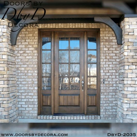 french country door and sidelites