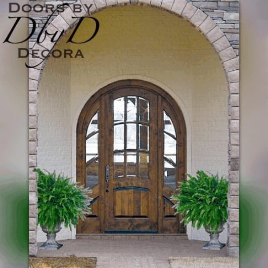 A traditional example of a beautiful country french door.