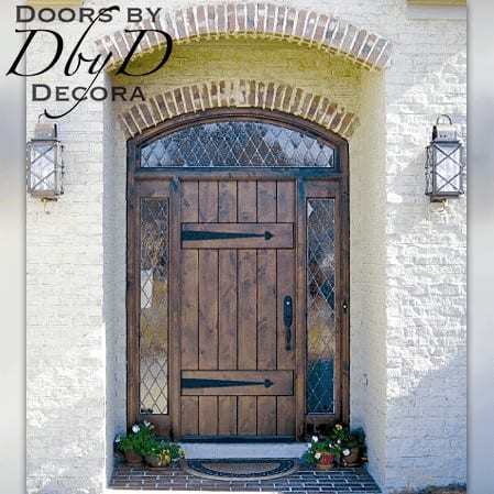 A country french style plank door.