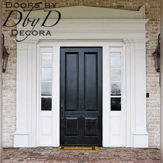 This country french unit was designed and built by Doors by Decora.