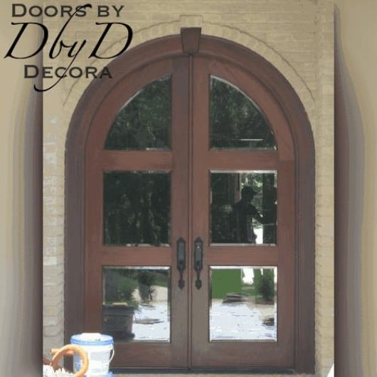 A simple and traditional country french door.