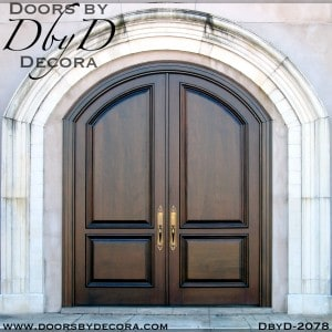 french country 2-panel wood doors
