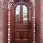 A traditional radius topped country french door.