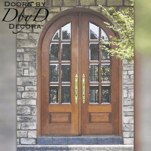A pair of very traditional country french doors.