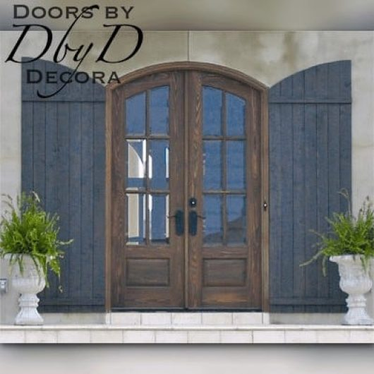These double doors have been hand distressed by our finish department.