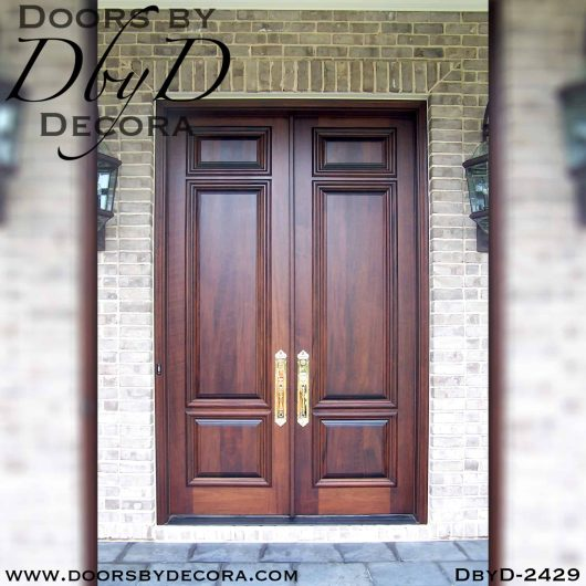 french country solid wood double doors