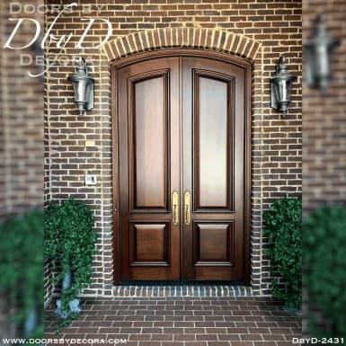 french country 2-panel segment doors
