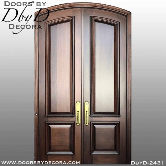 french country 2-panel segment doors