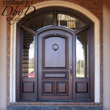 This beautiful unit features a wrap around transom and beveled glass.