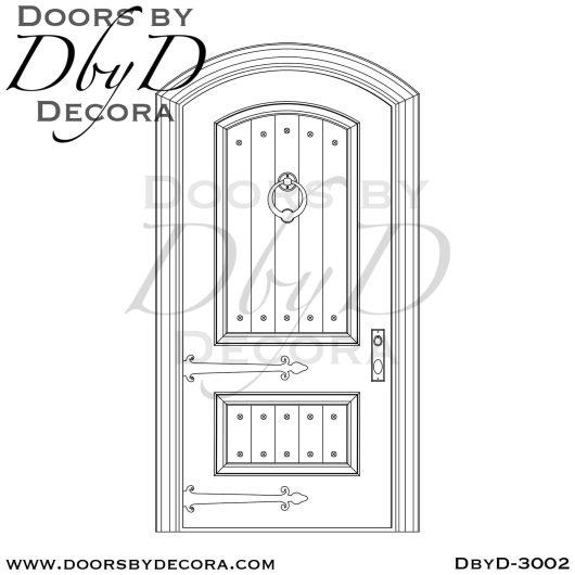 old world rustic door