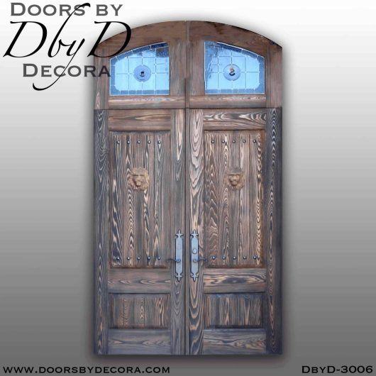 old world distressed doors