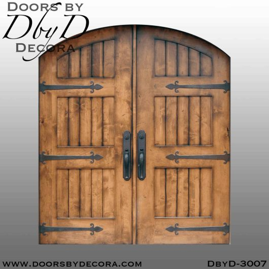 old world barn style doors