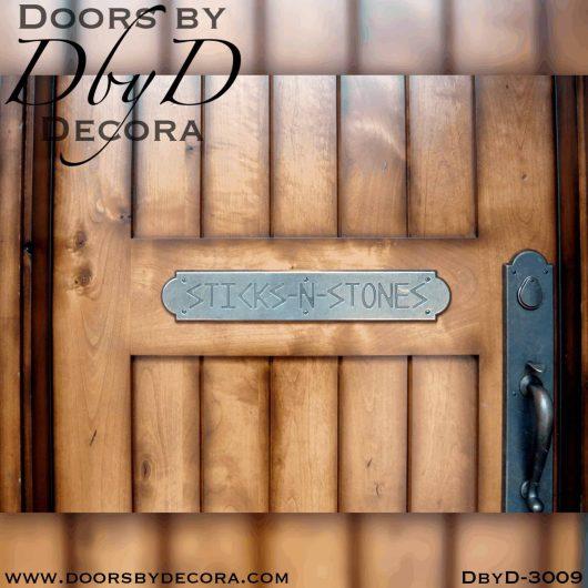 old world v-groove door