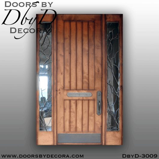 old world v-groove door