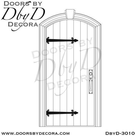 old world plank door