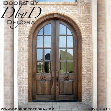 old world lion head doors