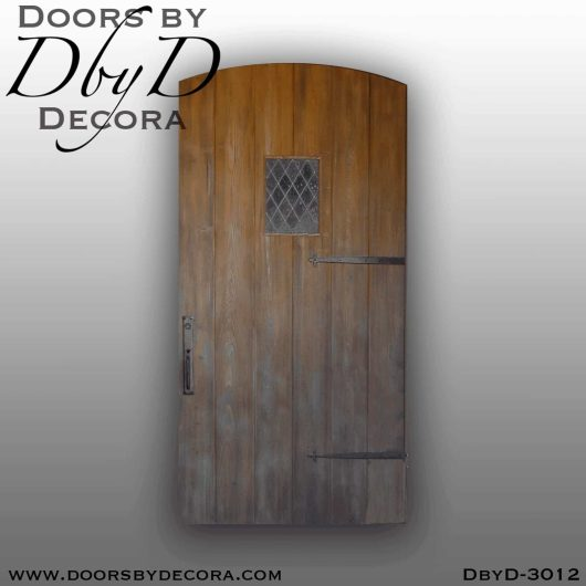 old world plank door
