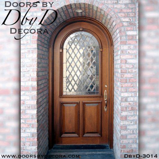 old world leaded glass door