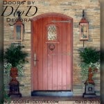 old world segment top plank door