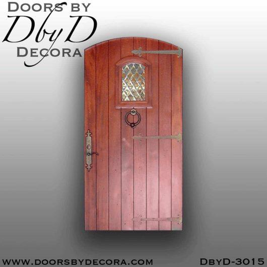 old world segment top plank door