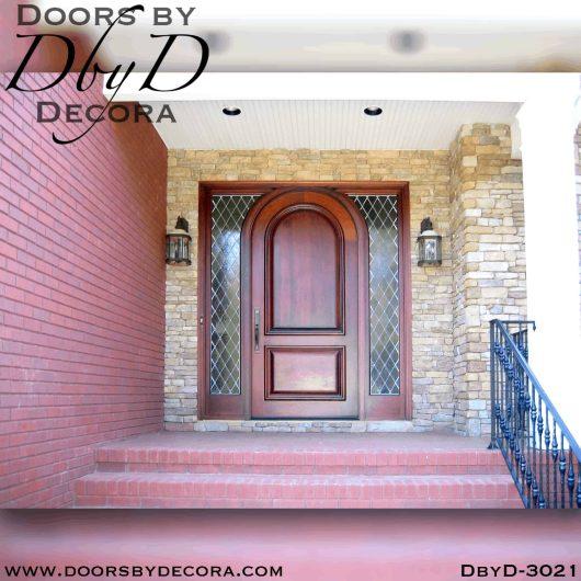 old world solid door