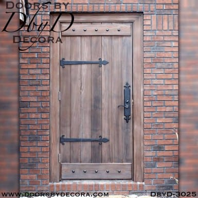 old world plank door with battens