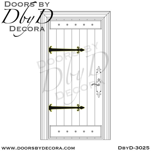 old world plank door with battens