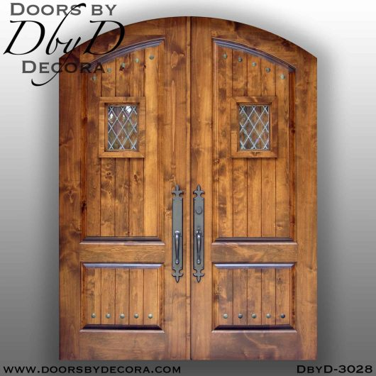 old world double speakeasy doors