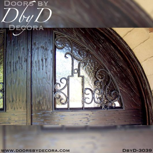 old world doors with iron grills