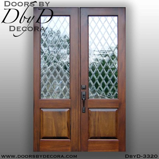 old world double doors with glass