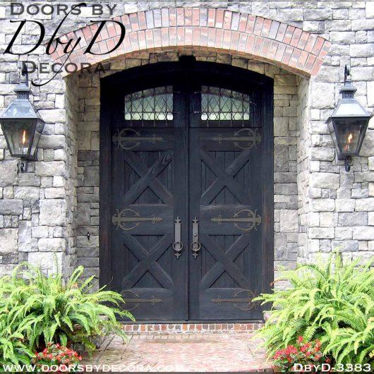 old world double castle doors