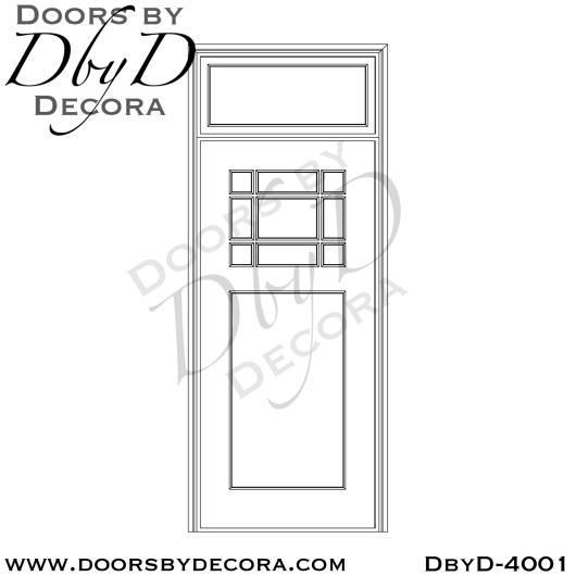 craftsman door with nine lites