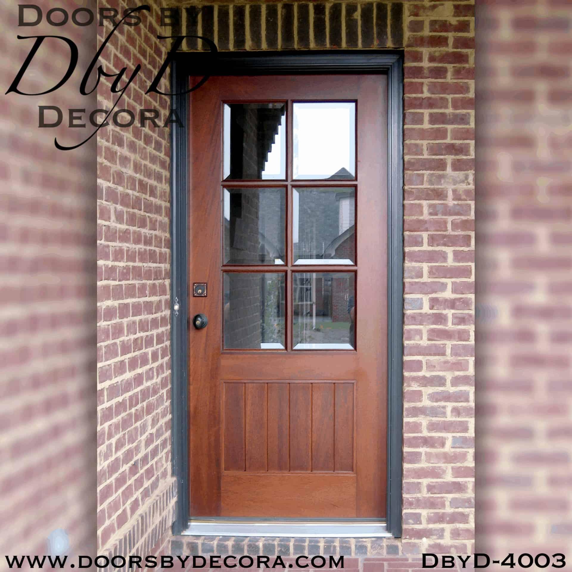 Custom Craftsman Six Lite Door Solid Wood Entry Doors By Decora