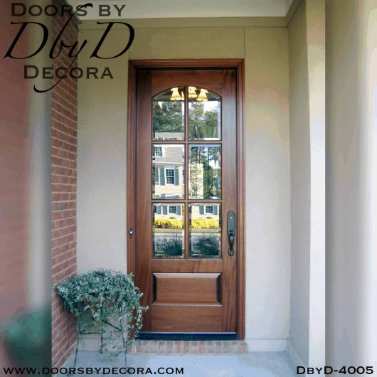 craftsman tdl door with segment glass