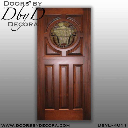 craftsman door with round glass