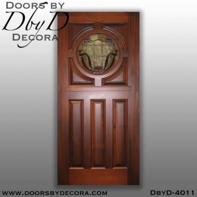 craftsman door with round glass