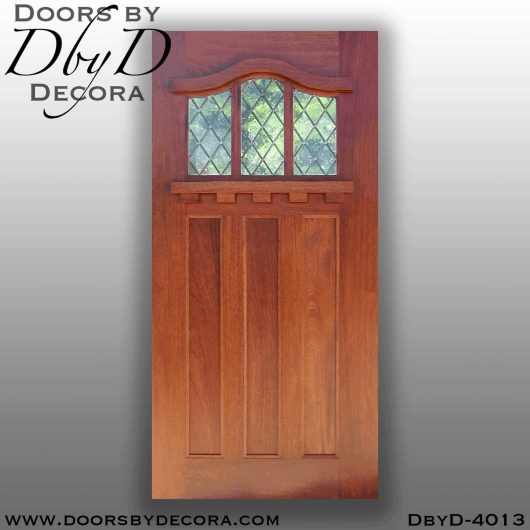 craftsman 3-lite door with leaded glass