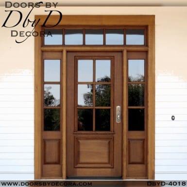 craftsman door side lites and transom
