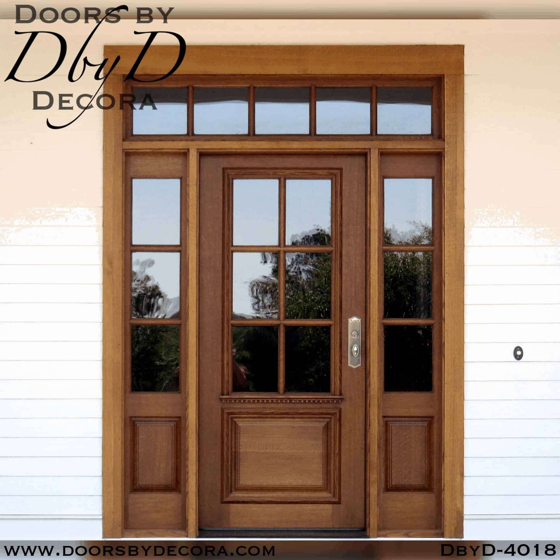 Custom Craftsman Door Side Lites And Transom Entry Doors By Decora