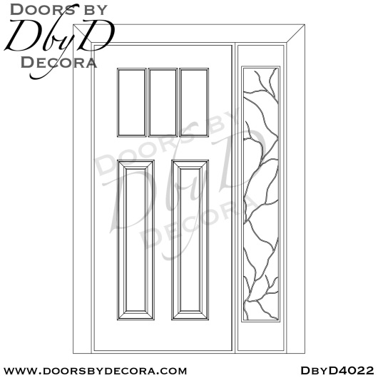 craftsman door with one side lite