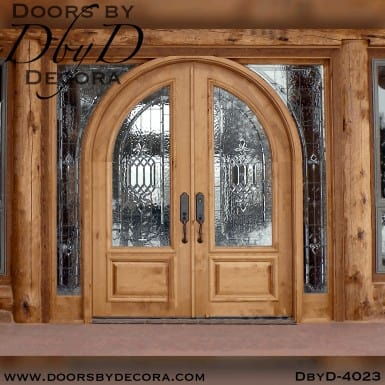 craftsman radius top double doors