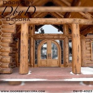 craftsman radius top double doors