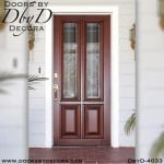 craftsman four panel door with glass