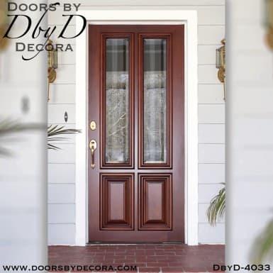 craftsman four panel door with glass