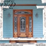 craftsman door with leaded glass